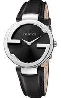 Gucci Interlocking 37mm Leather Strap Watch - Lyst