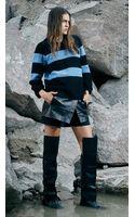 Tibi Layered Leather Short - Lyst