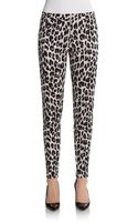 French Connection Simba Leopard Print Skinny Pants - Lyst