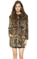 Nina Ricci Leopard Coat Leopard - Lyst