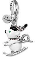Juicy Couture Silvertone Pave Crystal Skiing Mouse Charm - Lyst