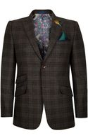 Ted Baker Wool Check Jacket - Lyst