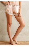 Eloise Blushed Silk Tap Shorts - Lyst