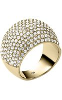 Michael Kors Pavéembellished Goldtone Dome Ring - Lyst