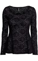 H&M Peplum Top in Lace - Lyst