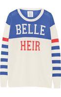 Zoe Karssen Belle Heir Wool Silk and Cashmere-blend Sweater - Lyst