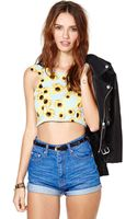 Nasty Gal Sundaze Crop Top - Lyst