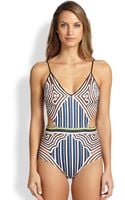 Clover Canyon Cutout One-piece Swimsuit - Lyst