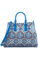 Tory Burch Robinson Printed Triangle Tote Bag - Lyst