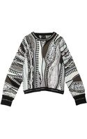 Rag & Bone Coogi Crop Sweater - Lyst