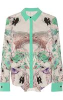 Prabal Gurung Printed Silk Shirt - Lyst