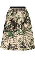 Oscar de la Renta Embellished Quilted Silk Skirt - Lyst