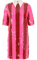 House Of Holland Sequin Tunic Pink Stripe - Lyst
