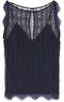 Tamara Mellon Lace Top - Lyst