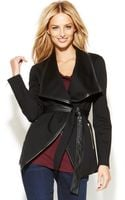 Inc International Concepts Fauxleathertrim Belted Jacket - Lyst