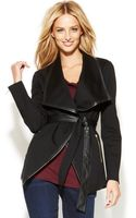 Inc International Concepts Fauxleathertrim Belted Jacket - Lyst