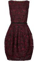 Oscar de la Renta Lace Bubble Dress - Lyst