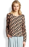 See By Chloé Foxprint Peplum Blouse - Lyst