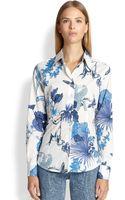 Etro Toucan-print Button-down Shirt - Lyst