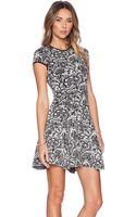 Torn By Ronny Kobo Vivienne Lace Jacquard Dress - Blackivory - Lyst