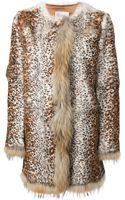 RED Valentino Fur Coat - Lyst
