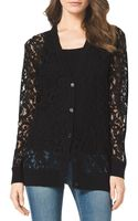 Michael by Michael Kors Sheer Lace Knittrim Cardigan - Lyst