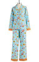 Munki Munki Flannel Breakfast Pajama Set - Lyst