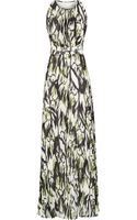 Reiss Winnie Pleated Print Maxi Dress - Lyst