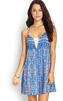 Forever 21 Paisley Lace Cami Dress - Lyst