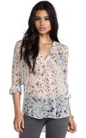 Joie Lerona Washed Floral Blouse - Lyst