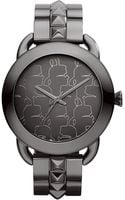 Karl Lagerfeld Womens Gunmetal Ionplated Stainless Steel Studded Bracelet Watch 40mm - Lyst