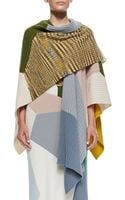 Missoni Colorblock Rib Knit Cashmere Shawl - Lyst