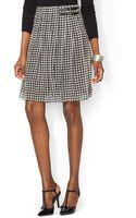 Ralph Lauren Lauren Georgette Houndstooth Skirt - Lyst