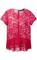 Thakoon Short Sleeve Lace Top - Lyst