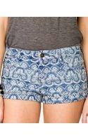 Forever 21 Bandana Print Denim Shorts - Lyst