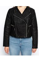 Asos Curve Biker Jacket with Zip Detail - Lyst