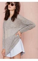 Nasty Gal Wicked Stitch Sweater - Lyst