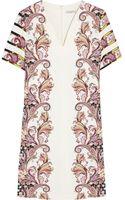 Etro Printed Stretch-ponte Mini Dress - Lyst