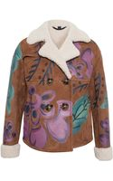 Burberry Prorsum Handpainted Cropped Sheepskin Jacket - Lyst