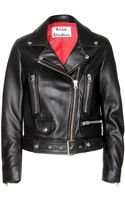 Acne Studios Mock Leather Biker Jacket - Lyst