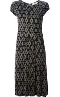 Tory Burch Silk Printed Dress - Lyst