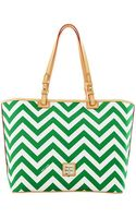 Dooney & Bourke Chevron Tote - Lyst