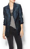 Cynthia Rowley Jacquard Jacket - Lyst