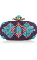 Oscar de la Renta Goa Embellished Satin Box Clutch - Lyst