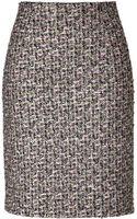 Giambattista Valli Metallic Tweed Pencil Skirt - Lyst