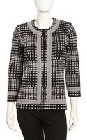 Misook Graphicprint Knit Cardigan - Lyst