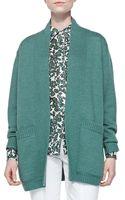 Tory Burch Bruna Wool Open Cardigan - Lyst