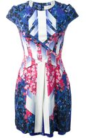 Peter Pilotto Abstract Floral Dress - Lyst
