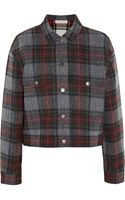 Stella McCartney Tartan Cotton and Wool-blend Jacket - Lyst