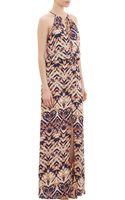 Parker Sunriseprint Maxi Halter Dress - Lyst